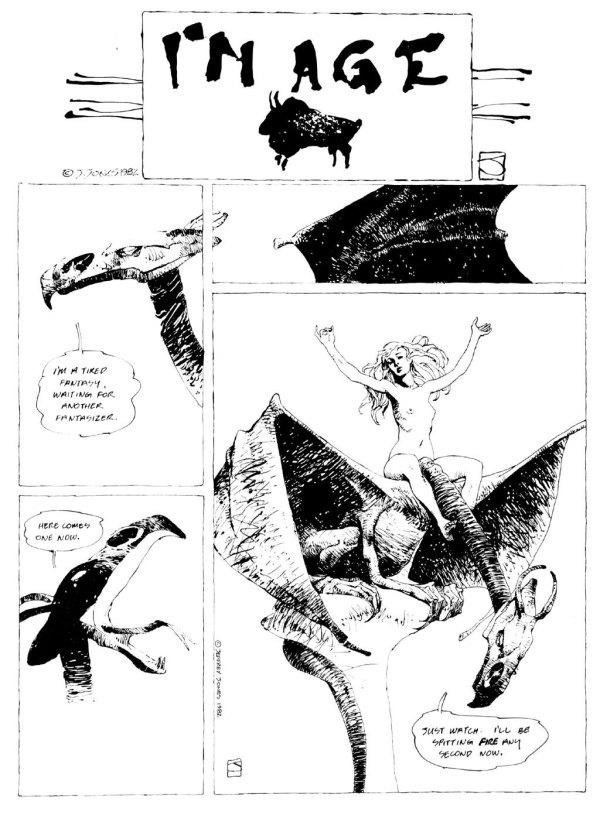 ABOVE: Originally published in Heavy Metal, vol. 6, no. 10, Jan. 1983