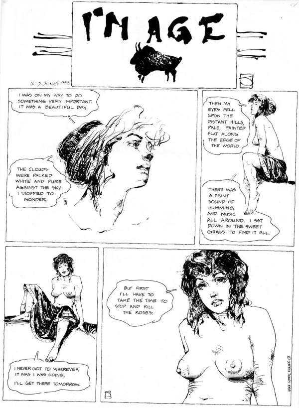 ABOVE: First published in Heavy Metal, vol. 7, no. 9, Dec. 1983