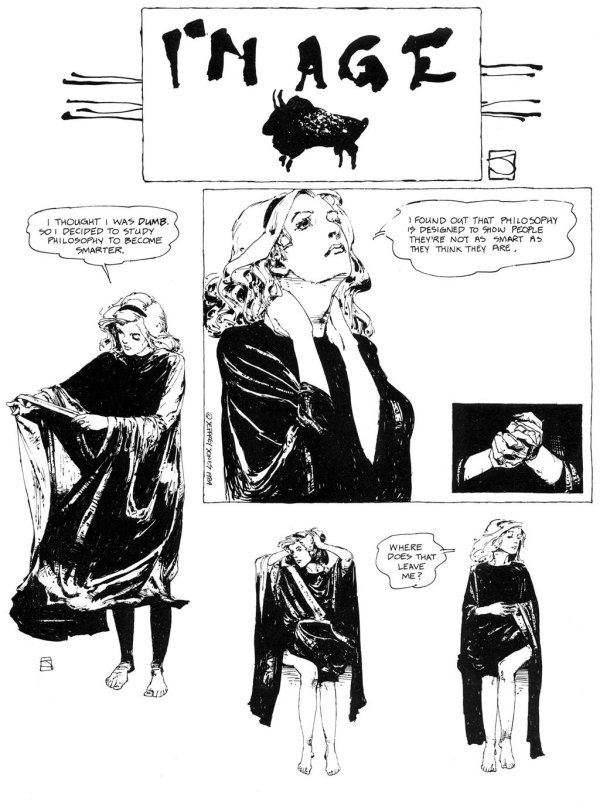 ABOVE: First published in Heavy Metal, vol. 8, no. 1, Apr. 1984