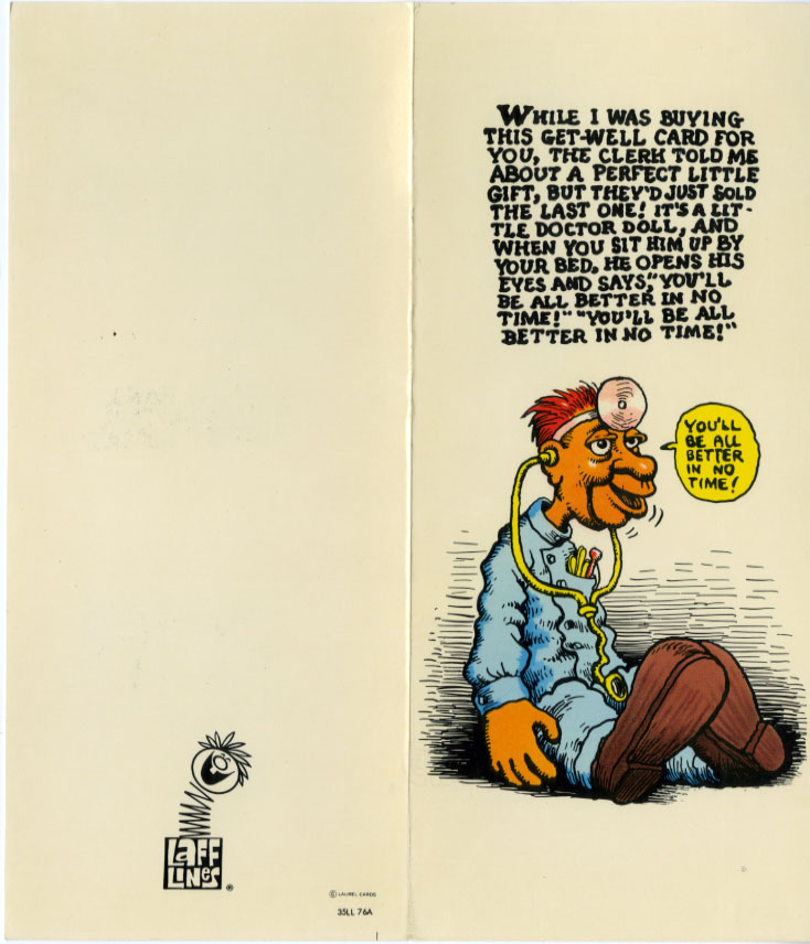 Free Comic Book Day Postcard: Look Here: Greeting Cards By R. Crumb