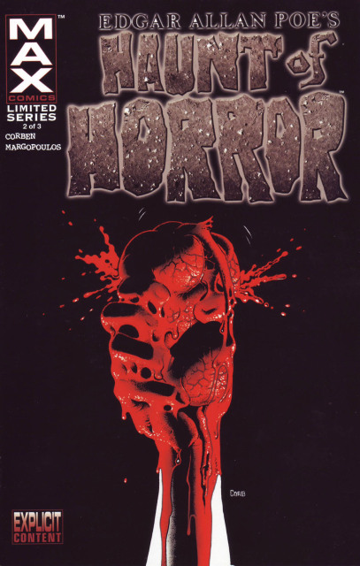 Richard Corben, printed cover of Haunt of Horror: Edgar Allan Poe #2/3 (2006).