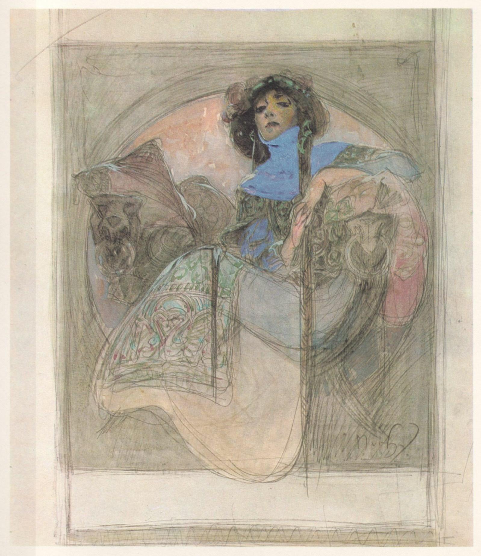 Alphonse Mucha Drawings