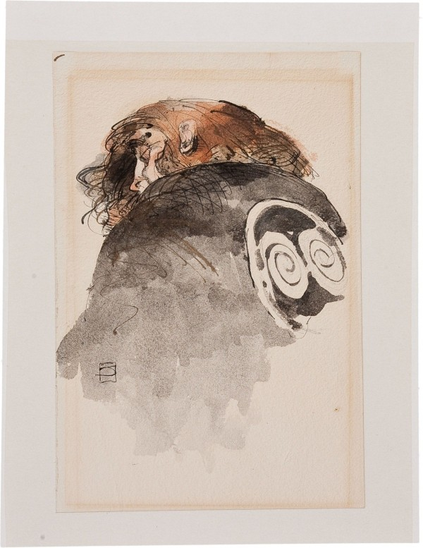 jeffrey-jones_study_1984_ink-and-watercolour_7x10in