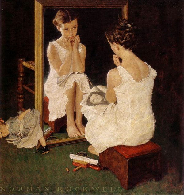 norman-rockwell_girl-at-mirror_saturday-evening-post_march-6-1954