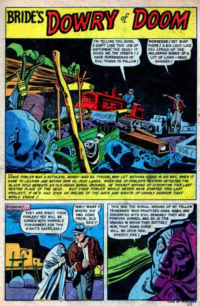 louis-zansky_brides-dowry-of-doom_p1of7_web-of-mystery-n11_july1952