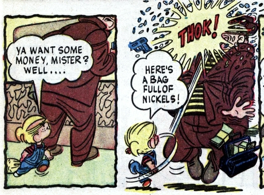al-wiseman_half-pint-g-man_p6of8-panels3-4_dennis-the-menace-n1_aug1953