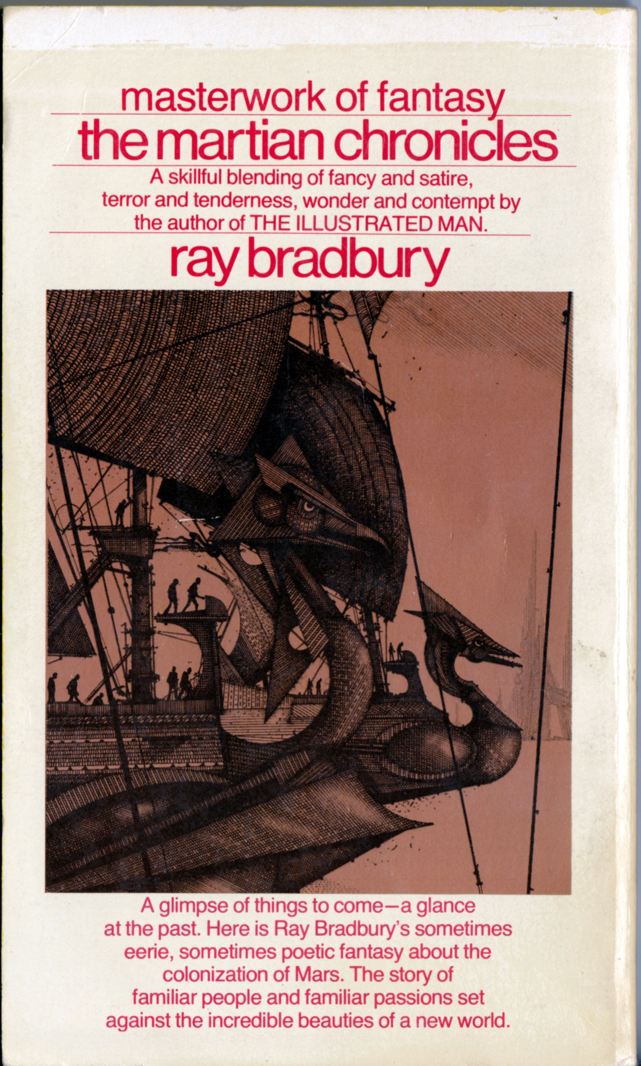 an analysis of martian chronicles by ray bradbury Ray bradbury's the martian chronicles is a futuristic, science fiction novel that   the present paper applies a text-oriented analysis of stylistic elements that.