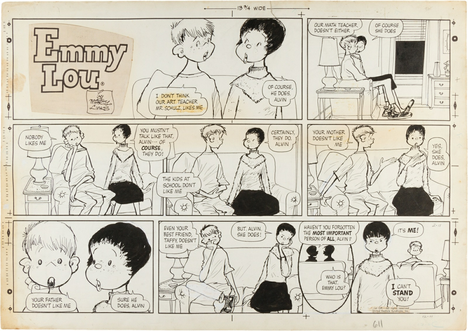 Cartoon strip emmy lou