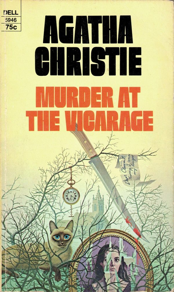 ABOVE: Agatha Christie, Murder at the Vicarage (NY: Dell, 1970), with cover art by William Teason.