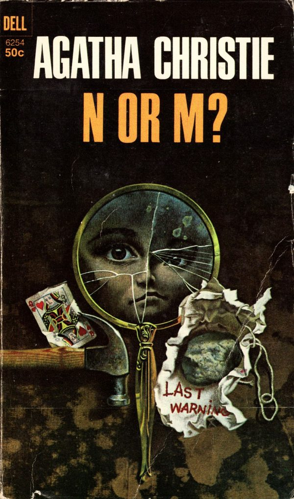 ABOVE: Agatha Christie, N or M? (NY: Dell, 1968), with cover art by William Teason.
