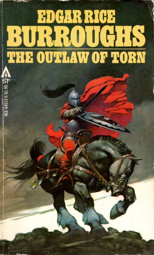 ABOVE: Edgar Rice Burroughs, The Outlaw of Torn (NY: Ace, 1978), 64513-5, with cover art by Frank Frazetta.