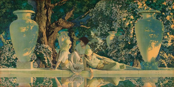 ABOVE: Maxfield Parrish, Garden of Allah (1918).